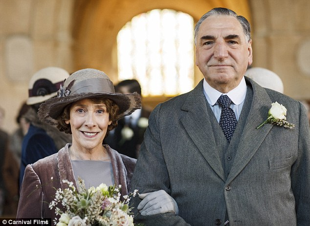At last: The pair have enjoyed a slow burning romance that has warmed the hearts of Downton Abbey fans