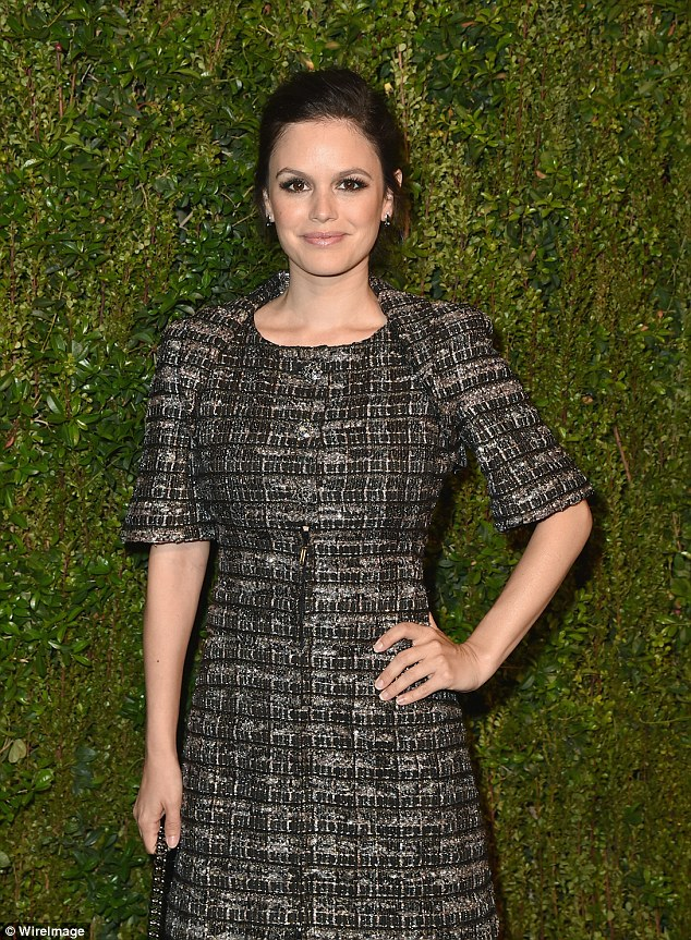 New mum: Rachel Bilson, who had her first child late last year, showed off her slender build
