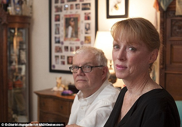 Mrs Harrington, pictured with her husband Dan Harrington, said she considers Matthew a 'different species'