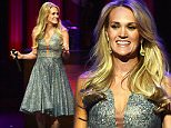 NASHVILLE, TN - OCTOBER 03:  Singer Carrie Underwood performs at the Grand Ole Opry 90th Birthday Bash on October 3, 2015 in Nashville, Tennessee.  (Photo by John Shearer/Getty Images for Schmidt Relations)