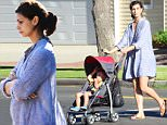 Actress Morena Baccarin who recently revealed that she is pregnant with her Gotham co-star Benjamin McKenzie's child is seen with her tummy starting to show in Venice,Ca \\n\\nPicture by: London Entertainment/Splash \\n\\nRef: LELA 021015 AA\\n\\nSplash News and Pictures\\nLos Angeles: 310-821-2666\\nNew York: 212-619-2666\\nLondon: 207-107-2666\\nphotodesk@splashnews.com\\nwww.splashnews.com