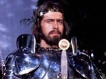 A scene from the film 'Excalibur' (1981) starring Nigel Terry (1945-2015) and Cherie Lunghi.  Showing a knight in armour.