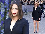 Mandatory Credit: Photo by David Fisher/REX Shutterstock (5212343l)\n Emilia Clarke\n Christian Dior show, Spring Summer 2016, Paris Fashion Week, France - 02 Oct 2015\n \n