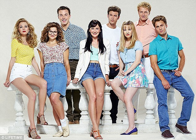 Unauthorized story: The cast of The Unauthorized Beverly Hills, 90210 Story is shown in a file photo