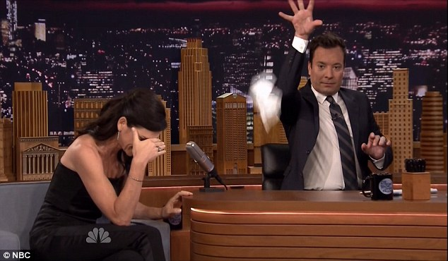 Wet look: The actress said she looked wet in every picture and Jimmy checked out