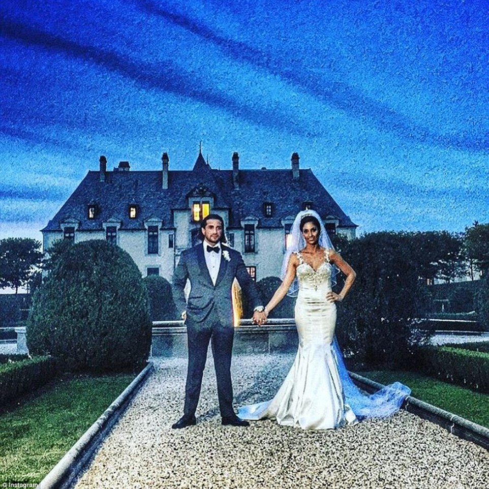 What a scene:The ceremony was held in Long Island's Oheka Castle, which was featured in Citizen Kane