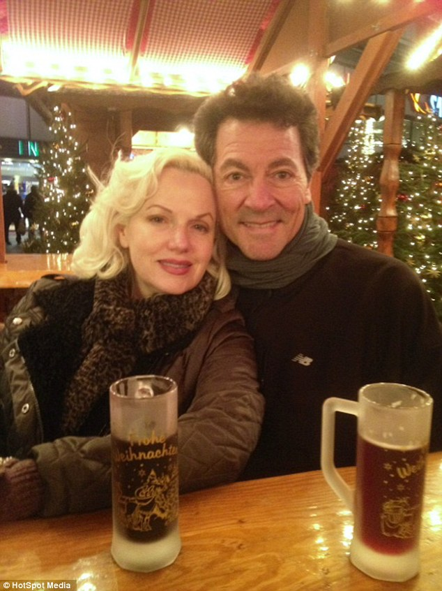 Lookalike love: She is dating a fellow lookalike, Dean Martin impersonator Andy DiMino (right)