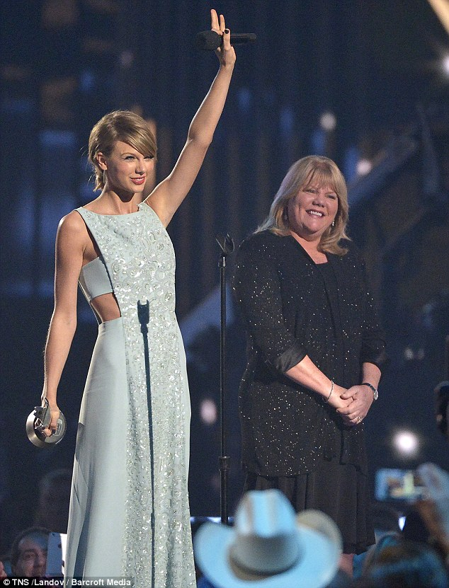 Charitable: It's a cause close to Taylor's heart, especially since her mother Andrea was diagnosed with cancer. Mother and daughter are pictured in April