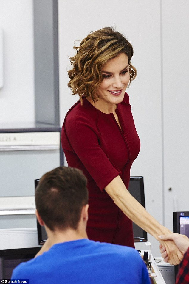 Since she began her reign as Queen over a year ago Letizia has been steadily losing weight