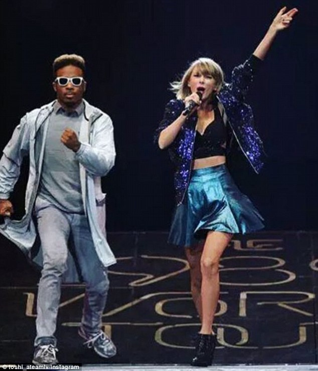 Generous star: Toshi has been performing with Taylor on her 1989 World Tour