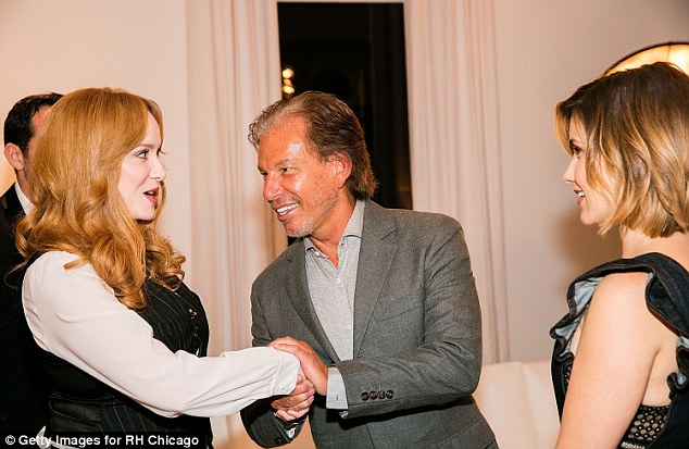 Pleased to meet you! Friedman couldn't wipe the smile from his face as he greeted flame-haired beauty Christina