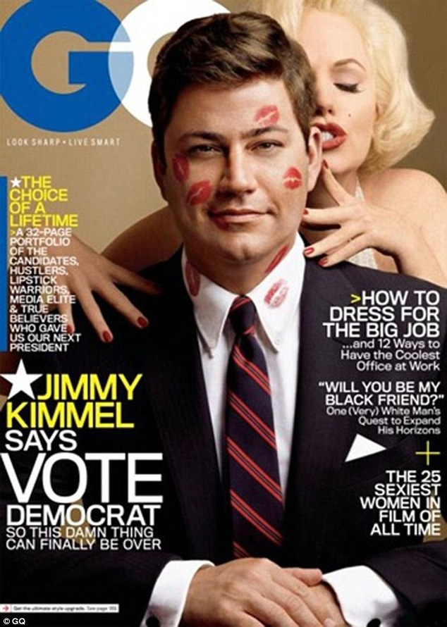 A-list gigs: Susan said it was 'surreal' to see her face on the cover of GQ with Jimmy Kimmel