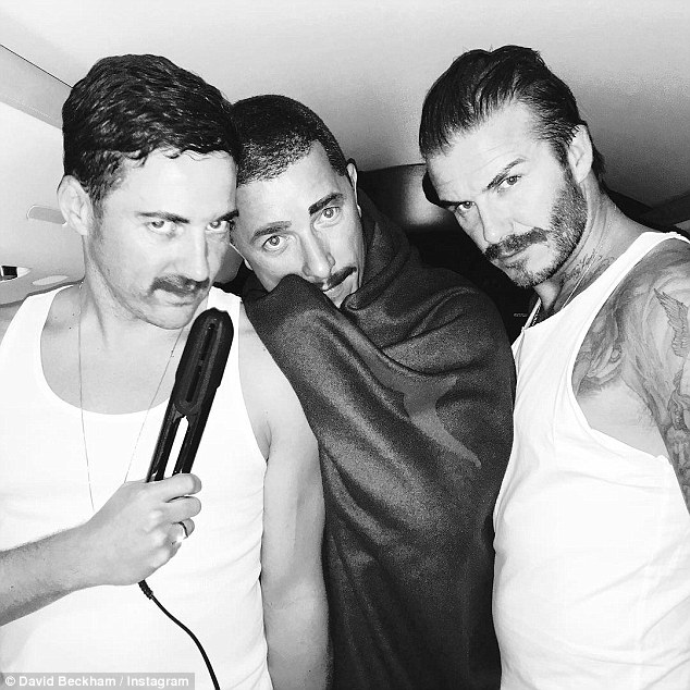 'Been away too long': David shared a hilarious picture of himself and his mates dressed as the late Freddie Mercury as he wrote about how much he missed his family