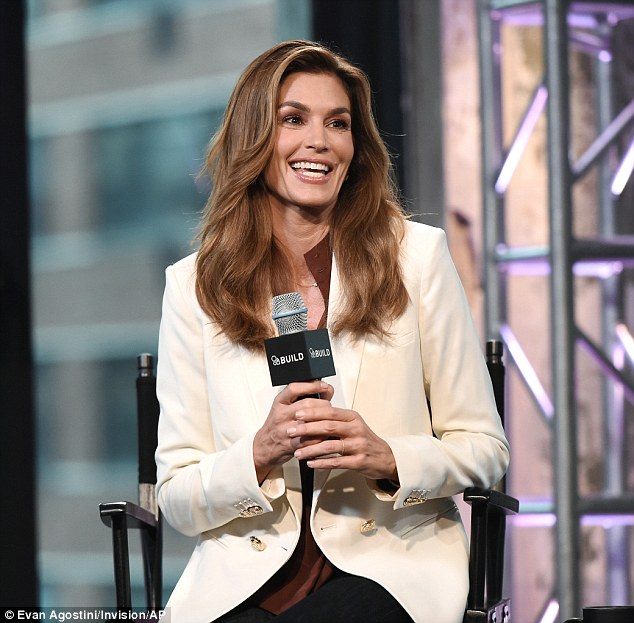 Taking the mic: The supermodel took a perch during the BUILD Speaker Series event to discuss her book