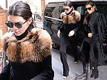 October 4, 2015: Kendall Jenner in a fur sweater seen during Paris Fashion week ready to wear SS 2016, Paris, France.\nMandatory Credit: INFphoto.com Ref.: infrr-01/201352
