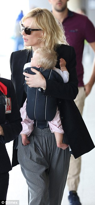 New addition: Cate adopted US-born Edith after the Academy Awards in February this year