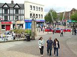 EYD02M All Saints Square in Rotherhm town centre, South Yorkshire, England, UK - summer 2015