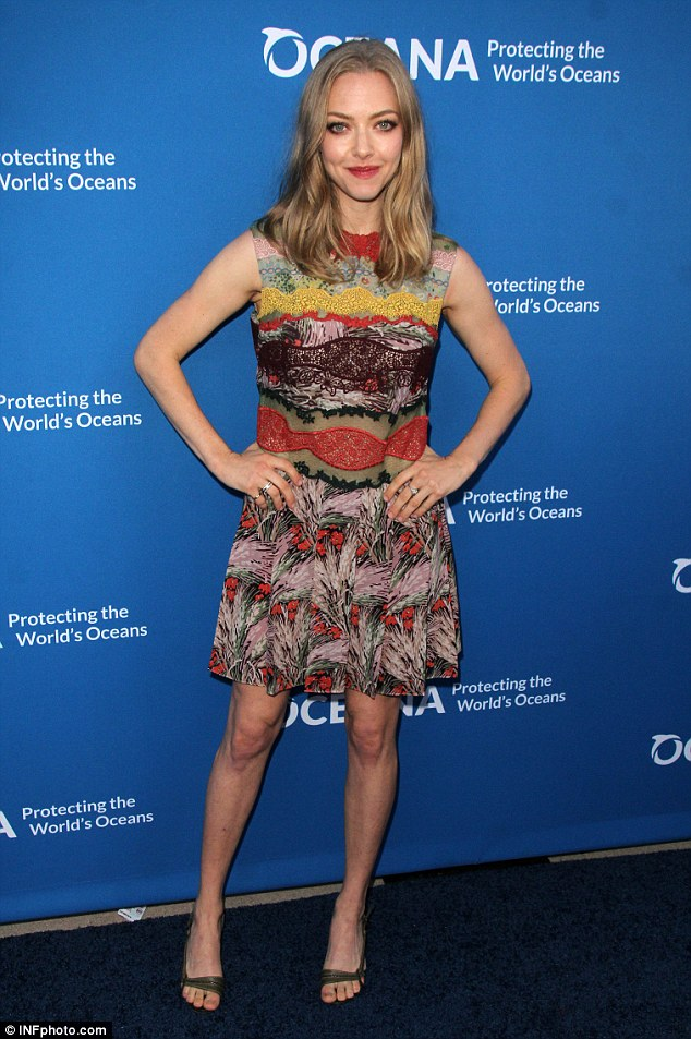Putting her troubles aside: The actress looked happy at the Concert for Our Oceans on Monday night in Beverly Hills