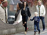 EXCLUSIVE. 03/10/15. Boris Becker, Lilly Becker and son Amadeus enjoying some time off in London from Becker's tennis coaching. Lilly went grocery shopping at Waitrose supermarket and stocked up on pizzas and orange juice. The family went for a pub lunch in Wimbledon after. They look blissfully happy as ever living in Wimbledon. Lilly wore a black leather jacket and ripped jeans.\\nNoble Draper Pictures.\\n**BYLINE: NOBLE/DRAPER**