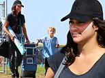 EXCLUSIVE TO INF. \nOctober 3, 2015: Paula Patton plays soccer mom as she comes fully stocked and geared up on a Saturday morning to cheer on her son Julian Thicke's game, Malibu, CA.\nMandatory Credit: INFphoto.com\nRef.: infusla-257/277/302