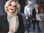 Mandatory Credit: Photo by Startraks Photo/REX Shutterstock (5212830o)\n Meg Ryan, Jack Quaid\n Meg Ryan and Jack Quaid out and about, New York, America - 04 Oct 2015\n Meg Ryan and Son Jack Quaid Sharing a Laugh in Soho\n