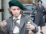 "EXCLUSIVE ALL ROUNDER Johnny Depp and Vanessa Paradis's daughter Lily-Rose Depp seen filming scene for her new movie ""Planetarium"" in Paris. 29 September 2015. \n30 September 2015.\nPlease byline: Vantagenews.com"