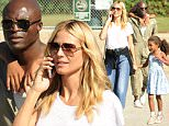 Please contact X17 before any use of these exclusive photos - x17@x17agency.com   Heidi Klum and Seal are spotted spending time together with their three kids. The divorced parents each show love for their children. Saturday, October 3, 2015 X17online. com PREMIUM EXCLUSIVE