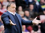 Manager of Sunderland Dick Advocaat during the Barclays Premier League match between Sunderland and West Ham United at the Stadium of Light Sunderland