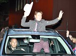 3 Oct 2015 - LIVERPOOL - UK *** EXCLUSIVE PICTURES *** *** STRICTLY NOT AVAILABLE FOR MAIL ONLINE AND ANY ONLINE SUBSCRIPTION DEALS UNLESS FEE AGREED PRIOR TO USAGE*** SIR CLIFF RICHARD SEEN LEAVING THE PHILHARMONIC HALL IN HIGH SPRITS HANGING OUT OF THE SUN ROOF OF HIS CAR WAVING TO FANS BEFORE HEADING TO YUET BEN CHINESE RESTAURANT UNTIL EARLY HOURS OF THE MORNING WITH A LADY  BYLINE MUST READ : XPOSUREPHOTOS.COM ***UK CLIENTS - PICTURES CONTAINING CHILDREN PLEASE PIXELATE FACE PRIOR TO PUBLICATION *** **UK CLIENTS MUST CALL PRIOR TO TV OR ONLINE USAGE PLEASE TELEPHONE 44 208 344 2007**