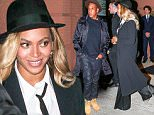 EXCLUSIVE TO INF.\nOctober 3, 2015: Jay-Z & Beyonce leaving Del Posto restaurant after dining out on date night in The Meatpacking Districk in New York City.\nMandatory Credit: INFphoto.com\nRef: infusny-259/283/294