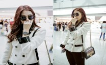 Park Shin Hye Turns Heads with Elegant Airport Fashion