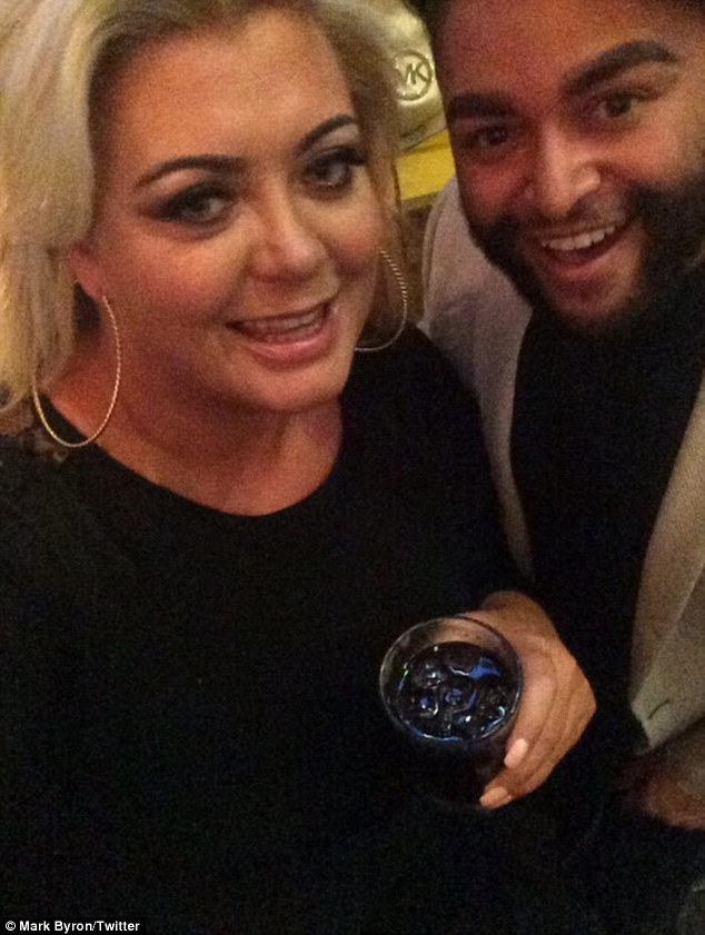 'The one and only': Ex Big Brother contestant Mark Byron shared a snap from inside the party with Gemma