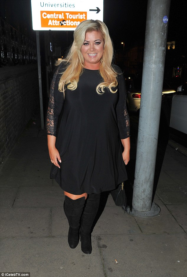 She's confident! Gemma Collins enjoyed a night out at The Old Blind School in Liverpool on Wednesday