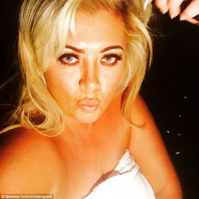 'Getting ready': Ahead of the event, Gemma took to Instagram to upload a selfie as she got dressed