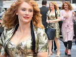 """NEW YORK, NY - OCTOBER 05:  Actress Bryce Dallas Howard is seen on the set of """"Gold"""" on October 5, 2015 in New York City.  (Photo by Raymond Hall/GC Images)"""