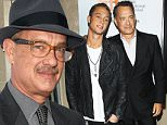 """TORONTO, ON - SEPTEMBER 08:  Tom Hanks (R) and his son Chet Hanks arrive at """"Cloud Atlas"""" premiere during the 2012 Toronto International Film Festival held at Princess of Wales Theatre on September 8, 2012 in Toronto, Canada.  (Photo by Michael Tran/FilmMagic)"""
