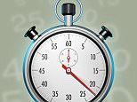 A stock photo of a stopwatch symbol of time deadline for sport performance championship athletics.  A6B56W