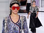 Mandatory Credit: Photo by David Fisher/REX Shutterstock (5215170l)  Kendall Jenner on the catwalk  Chanel show, Spring Summer 2016, Paris Fashion Week, France - 06 Oct 2015