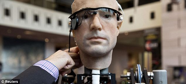 Researchers from Zurich have unveiled the world's first walking, talking bionic man called Frank, short for Frankenstein, pictured.