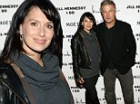 "NEW YORK, NY - OCTOBER 05: Hilaria Baldwin (L) and actor Alec Baldwin attend the album release party for Jill Hennessy's ""I Do"" at The Cutting Room on October 5, 2015 in New York City.  (Photo by Monica Schipper/Getty Images)"