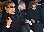 US singer Janet Jackson (R) and husband Wissam Al Mana attend Hermes 2016 Spring/Summer ready-to-wear collection fashion show, on October 5, 2015 in Paris.    AFP PHOTO / MIGUEL MEDINAMIGUEL MEDINA/AFP/Getty Images