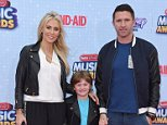 LOS ANGELES, CA - APRIL 25:  L.A. Galaxy soccer player Robbie Keane, wife Claudine Keane and son Robert Keane arrive at the 2015 Radio Disney Music Awards at Nokia Theatre L.A. Live on April 25, 2015 in Los Angeles, California.  (Photo by Axelle/Bauer-Griffin/FilmMagic)
