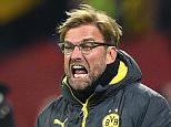 Head coach Juergen Klopp of Dortmund reacts  during the Bundesliga match between Bayer 04 Leverkusen and Borussia Dortmund at BayArena on January 31, 2015 in Leverkusen, Germany.  (Photo by Matthias Hangst/Bongarts/Getty Images)
