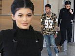 A braided Kylie Jenner and Tyga leave Topanga mall after Tyga got  back to Los Angeles. October 6, 2015 X17online.com