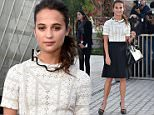 PARIS, FRANCE - OCTOBER 07: Actress Alicia Vikander attends the Louis Vuitton  show as part of the Paris Fashion Week Womenswear Spring/Summer 2016 on October 7, 2015 in Paris, France.  (Photo by Rindoff/Le Segretain/Getty Images)