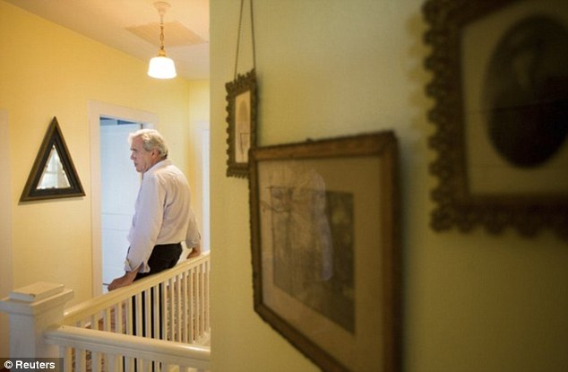 Stirling Sotherby's real estate advisor Mark Arnold stands in the second floor of the home that Kate 'Ma' Barker was shot dead by the FBI in 1935