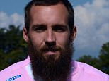 Evian Thonon Gaillard FC's  French defender Gael Givet poses for an official picture of the French L1 football team on September 16, 2014 in Publier. AFP PHOTO / JEAN-PIERRE CLATOT        (Photo credit should read JEAN-PIERRE CLATOT/AFP/Getty Images)