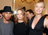 PARIS, FRANCE - OCTOBER 05:  Formula One Pilot Lewis Hamilton, Fashion Designer Stella McCartney and Tennis Player Maria Sharapova pose Backstage after the Stella McCartney show as part of the Paris Fashion Week Womenswear Spring/Summer 2016. Held at Opera Garnier on October 5, 2015 in Paris, France.  (Photo by Bertrand Rindoff Petroff/Getty Images)