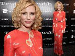 """NEW YORK, NY - OCTOBER 07:  Actress Cate Blanchett attends the Giorgio Armani and Cinema Society screening of Sony Pictures Classics' """"Truth"""" at Museum of Modern Art on October 7, 2015 in New York City.  (Photo by Dimitrios Kambouris/Getty Images)"""