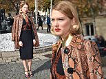 PARIS, FRANCE - OCTOBER 07:  Lea Seydoux arrives at the Miu Miu Fashion Show during the Paris Fashion Week S/S 2016: Day Nine on October 7, 2015 in Paris, France.  (Photo by Jacopo Raule/GC Images)